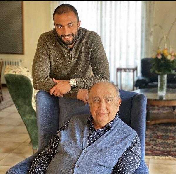 امیر جدیدی در خانه مرد بزرگ سینمای ایران + عکس