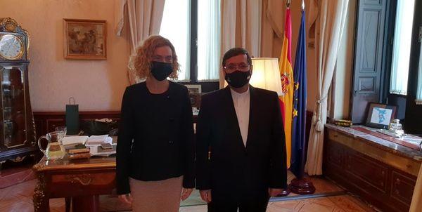 دیدار حسن قشقاوی با رئیس کنگره نمایندگان اسپانیا