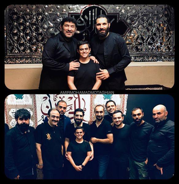 امیرمحمد متقیان در هیئت+عکس
