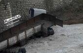 سقوط تریلر به رودخانه در کرمانشاه