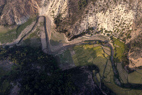 رودخانه تجن منطقه دودانگه ساری در وضعیت خشکسالی مازندران