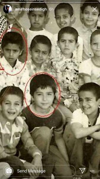 کودکی امیرحسین صدیق در مدرسه + عکس