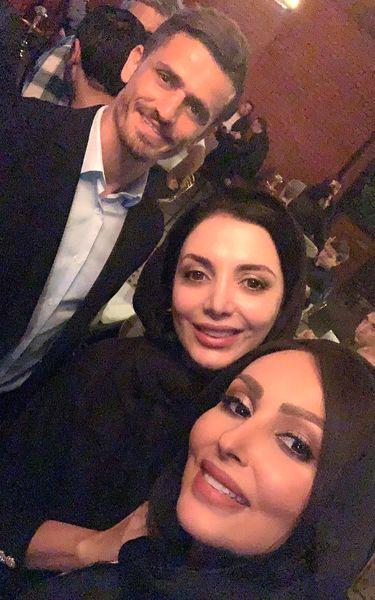 پرستو صالحی با آقای فوتبالیست مورد علاقه اش+عکس