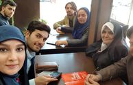 عید دیدنی خانم مجری با خانواده همسرش