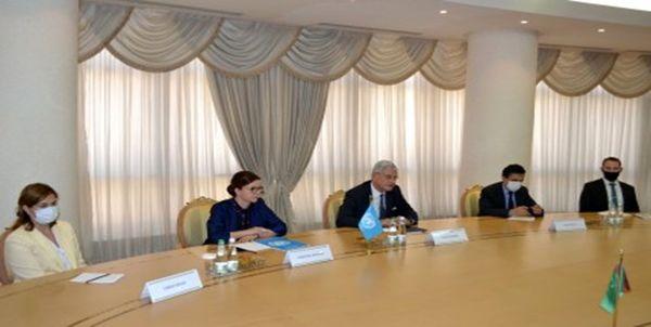 رایزنی رئیس جمهور ترکمنستان با نماینده سازمان ملل در «عشق آباد»