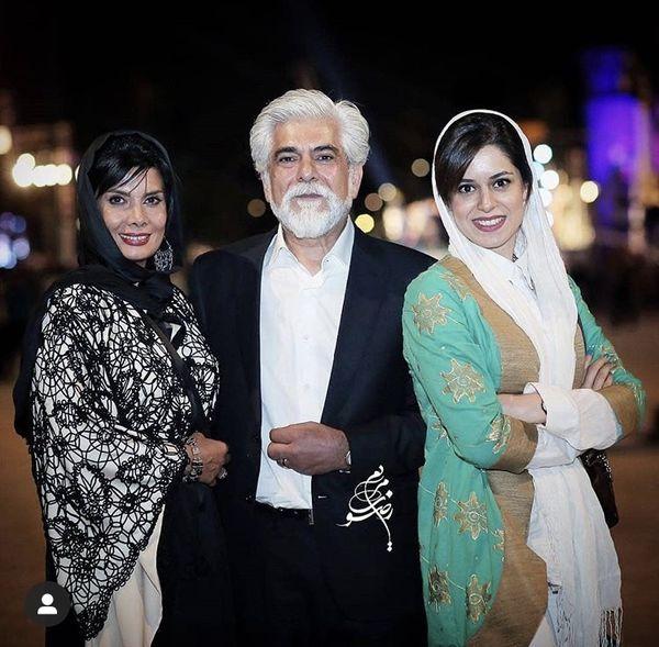 عاطفه رضوی در کنار همسر و دخترش + عکس