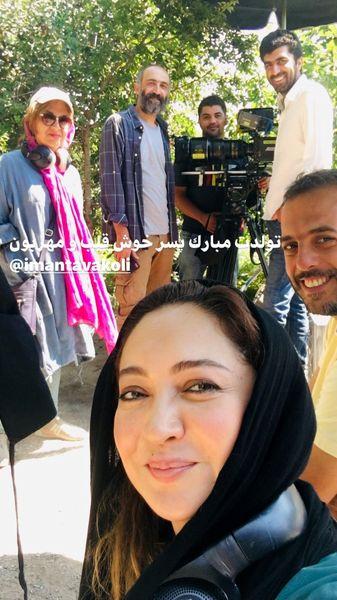 تبریک نیکی کریمی به دوستش + عکس