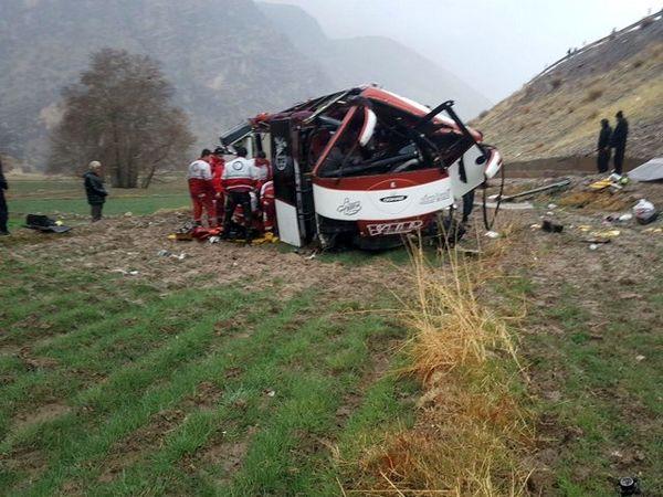 واژگونی اتوبوس 45 کشته و مجروح برجای گذاشت