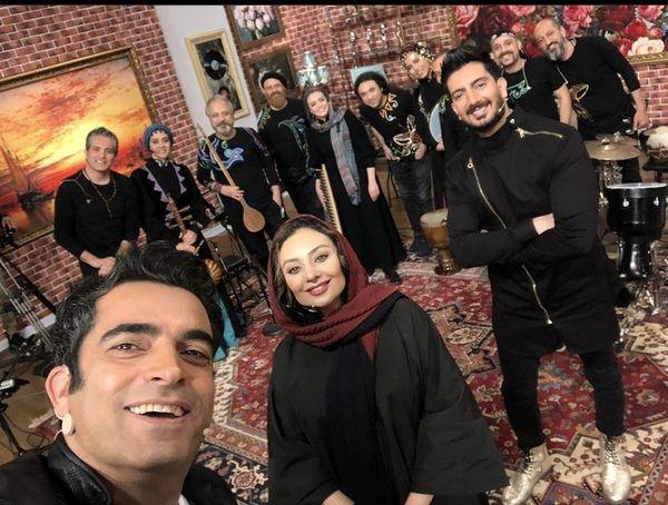 یکتا ناصر و همسرش میهمان فرزاد فرزین شدند + عکس
