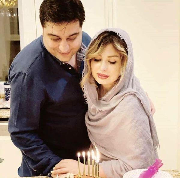 نیوشا ضیغمی و همسرش + عکس