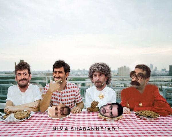 دورهمی نیما خان شعبان نژاد با خودش + عکس
