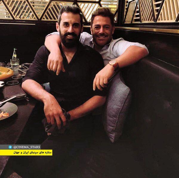 رستوران گردی محمدرضا گلزار با والیبالیست معروف+عکس