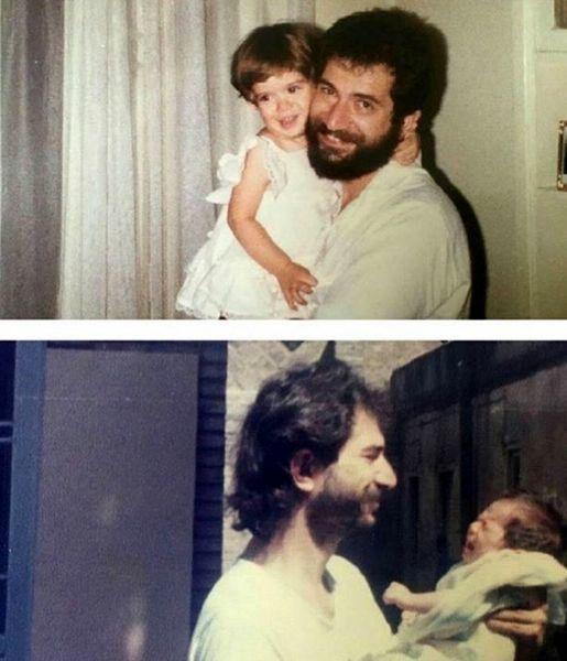 کودکی های ستاره پسیانی در آغوش پدرش + عکس