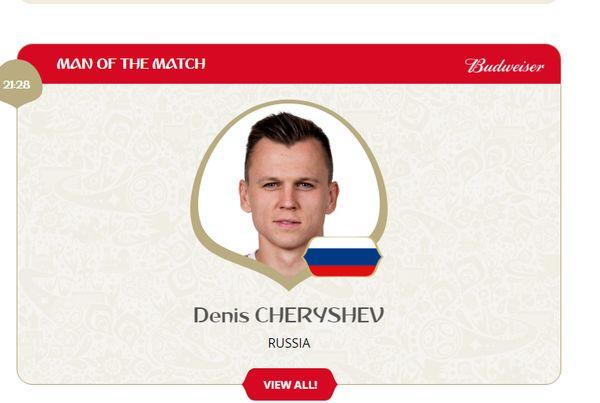 بهترین بازیکن دیدار روسیه - عربستان معرفی شد