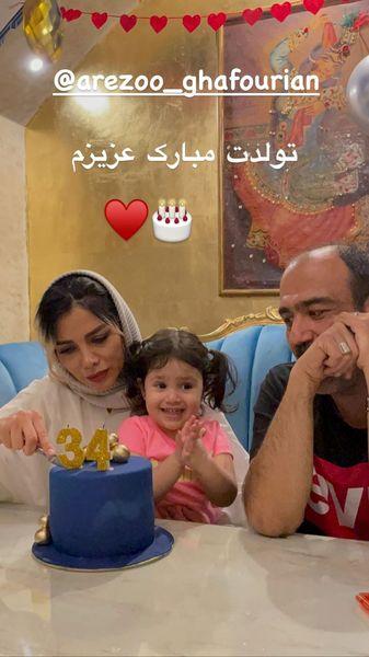 تولد همسر مهران غفوریان در خانه اش + عکس