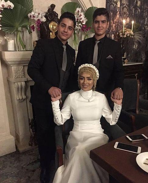 سمانه پاکدل و خواهرزاده هایش در عروسی + عکس