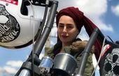 سمانه پاکدل سوار بر موتور خفنش+عکس