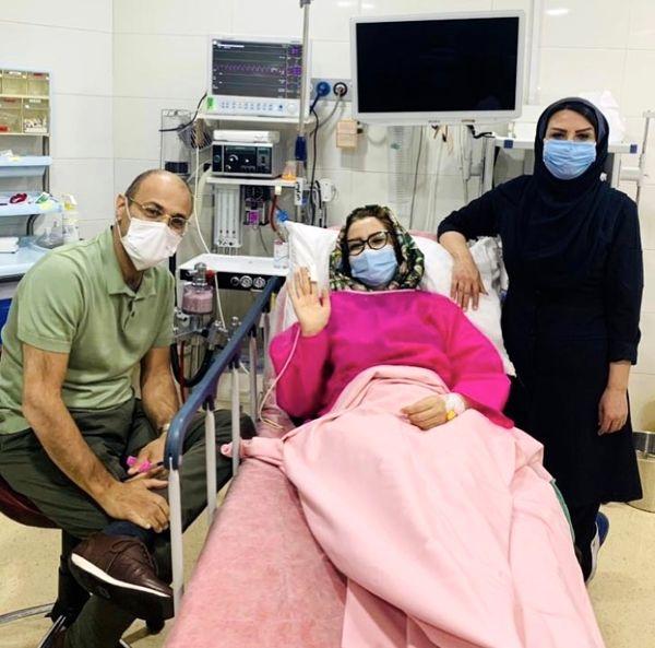 بستری شدن خاله شادونه در بیمارستان به خاطر کرونا + عکس