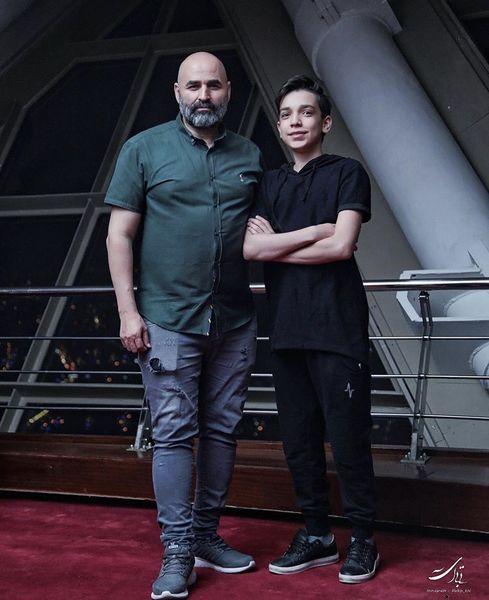 علی مسعودی و برادر کوچکش + عکس
