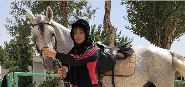 اسب زیبای شراره رخام + عکس