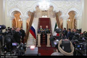 دیدار و نشست خبری مشترک رئیس مجلس دومای روسیه و علی لاریجانی