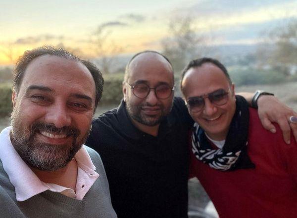 برزو ارجمند در کنار کارگردان و مجری معروف + عکس