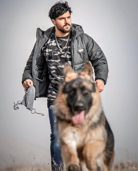 سگ باوفای سینا مهراد + عکس