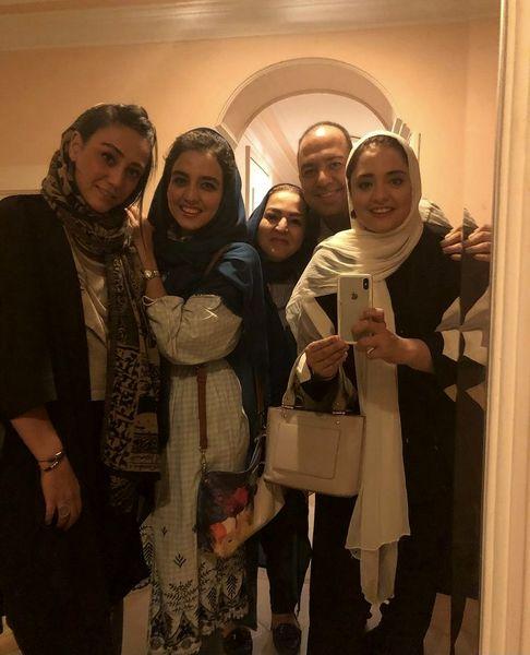 عکس خانوادگی نرگس محمدی در خانه اش