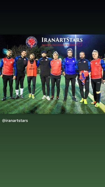 تیم حرفه ای فوتبال هنرمندان در یک قاب + عکس