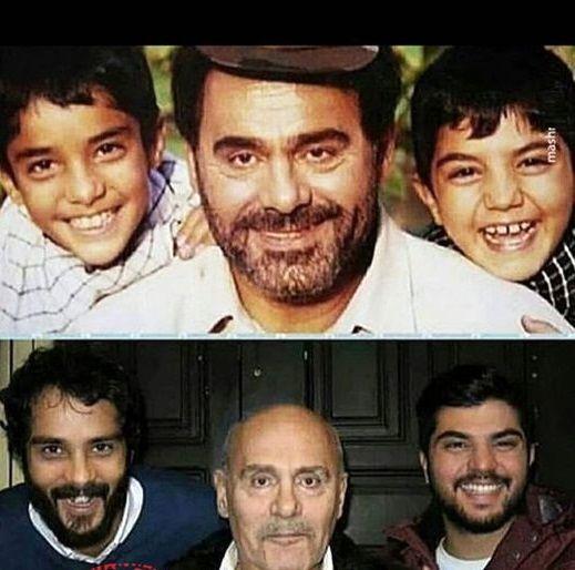 ساعد سهیلی و برادرش در گذر زمان + عکس