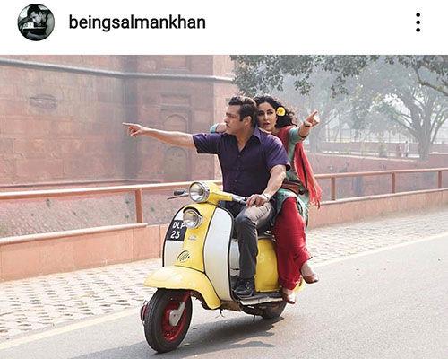 سلمان خان سوار بر وسیله نقلیه محبوب این روزهای بازیگرها+عکس