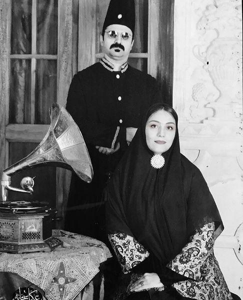 شبنم قلی خانی و همسرش در زمان قدیم + عکس