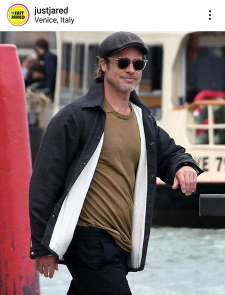 عکس برد پیت در ونیز