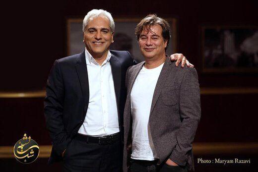 مهران مدیری در کنار نویسنده سریال های کمدیش + عکس