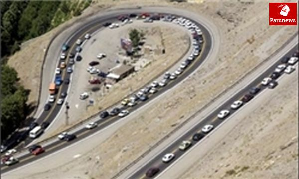 ترافیک نیمه سنگین در دو آزادراه رشت-قزوین وتهران-قم