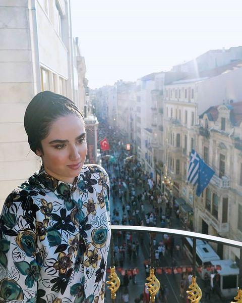هانیه غلامی بر فراز ترکیه+عکس