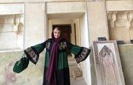 مانتو زیبای سپیده خداوردی در سفر شیراز+عکس