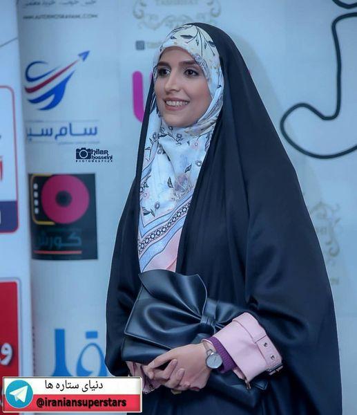 تیپ مجلسی خانم مجری خوش سخن+عکس