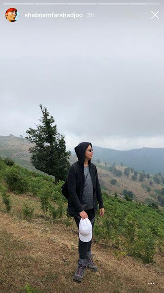 طبیعت گردی شبنم فرشادجو + عکس