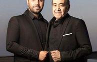 ست کردن احسان خواجه امیری با پدر خوشتیپش+عکس
