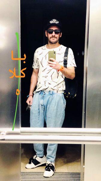 استایل با کلاه آقای بازیگر جوان + عکس