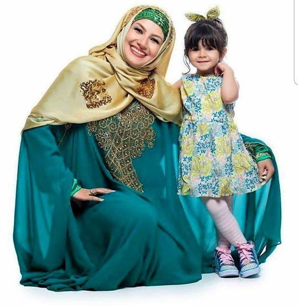 ست زیبای خاله شادونه و دخترش + عکس