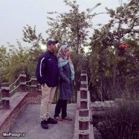 گشت و گذار شبنم قلی خانی و برادرش در طبیعت+عکس