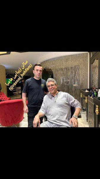 آقای بازیگر در سالن زیبایی دوستش + عکس