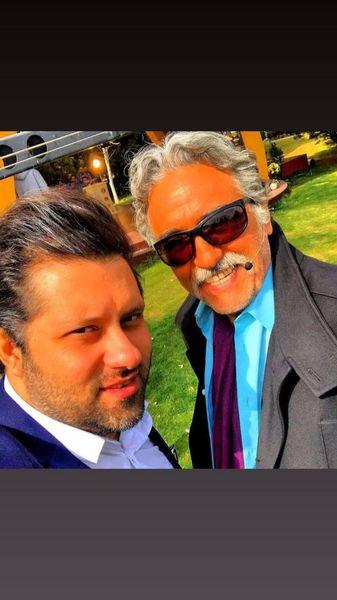 رضا توکلی و دوست جوانش + عکس
