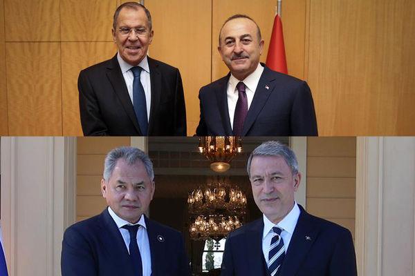 وزرای دفاع و خارجه ترکیه و روسیه در استانبول دیدار کردند