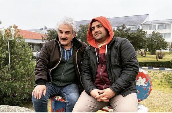 علی هاشمی در کنار بازیگر پیشکسوت سینمای ایران + عکس