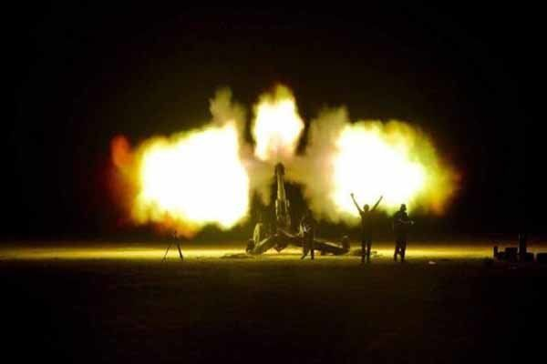 حملات موفق حشد شعبی عراق به مواضع داعش در مرز با سوریه