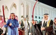 شاه سعودی بی توجه به جنایات خود رقص شمشیر می کند