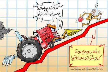 کاریکاتور سبقت تورم روستا از شهر!